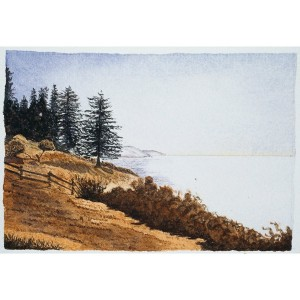 4x6, Landscape, California, Private Collection, Watercolor
