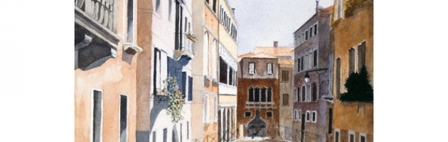 18x12, Landscape, Italy, Private Collection, Watercolor