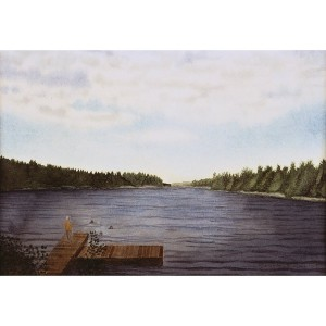 8x12, Landscape, Sweden, Private Collection, Watercolor
